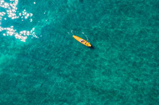 Aerial image of Lake Tahoe in California.