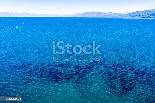 1143575463 istock photo Aerial Image of Lake Tahoe in California 1253333301