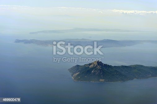istock Aerial image of Mount Athos 469900478