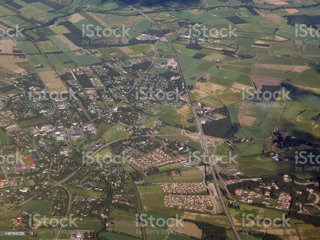 Aerial image royalty-free stock photo