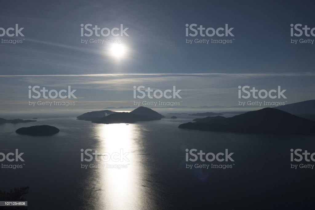 Aerial Islands View stock photo