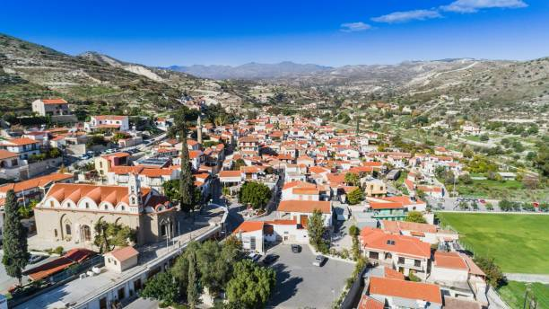 aerial kalavasos, larnaca, cyprus - cyprus стоковые фото и изображения