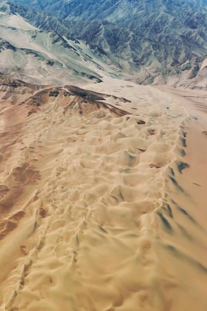 Luftlandschaft der Sechura-Wüste in Peru – Foto