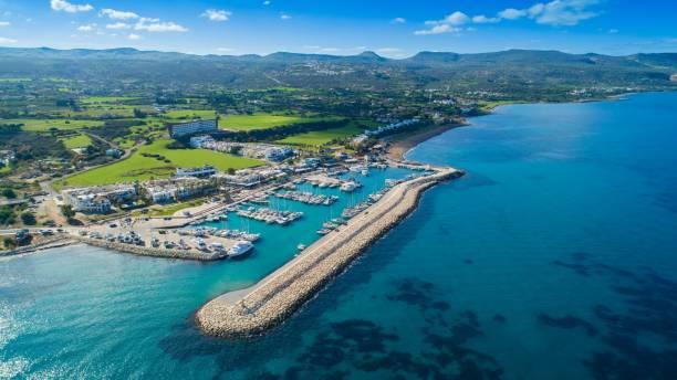 aerial latchi, paphos, cyprus - cyprus стоковые фото и изображения
