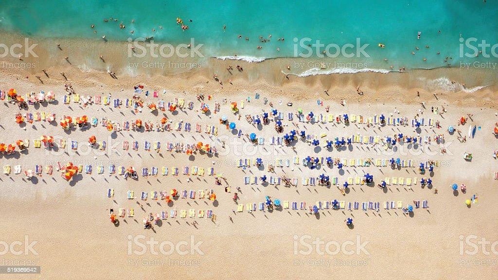 Vista aérea de una playa - foto de stock