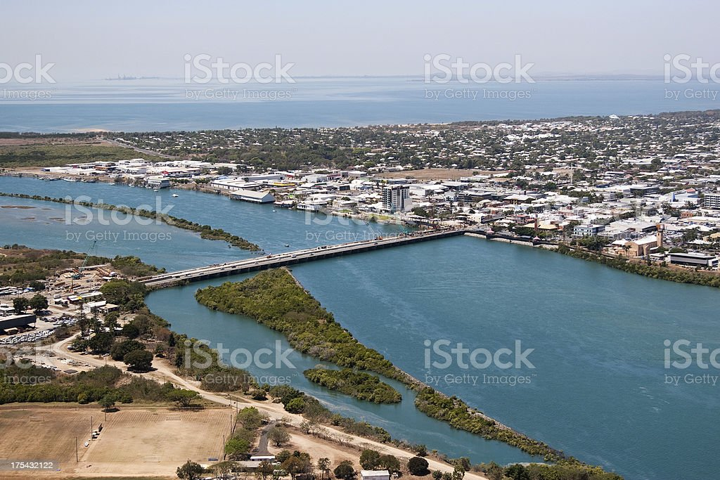 Aerial Mackay Queensland stock photo
