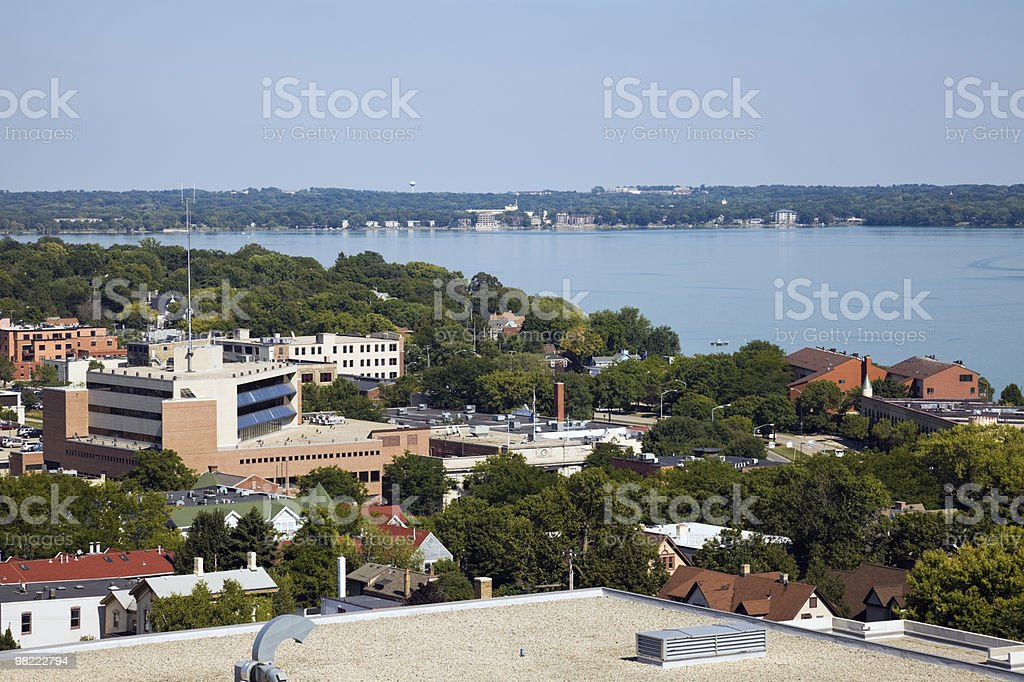 Veduta aerea di Madison foto stock royalty-free