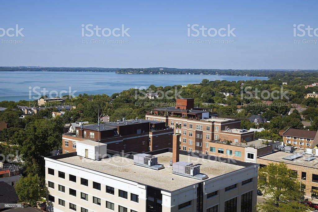 Veduta aerea di Madison foto stock royalty-free