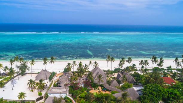 Aerial. Matemwe, Zanzibar. Tanzania. Aerial. Matemwe, Zanzibar. Tanzania. tanzania stock pictures, royalty-free photos & images