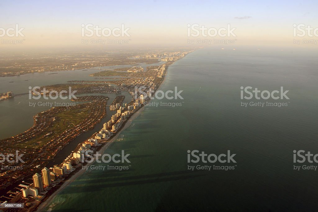 Aerial Miami view royalty-free stock photo