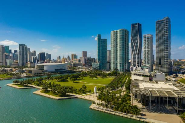 Aerial Museum Park Downtown Miami FL