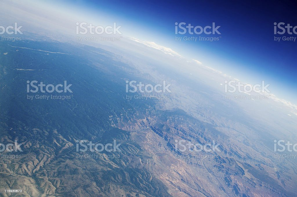 Aerial near the Grand Canyon royalty-free stock photo