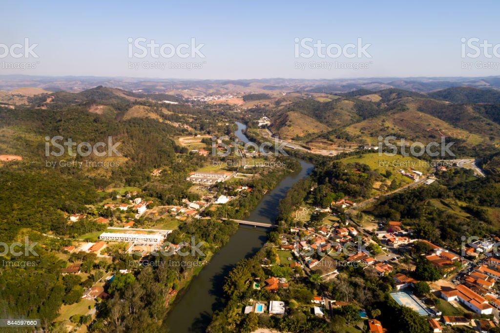 Antena de uma paisagem brasileira - foto de acervo