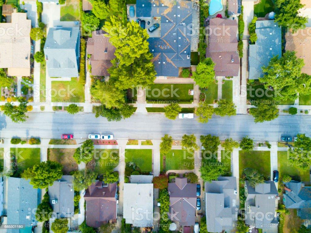Aerial of a Neighborhood foto de stock royalty-free