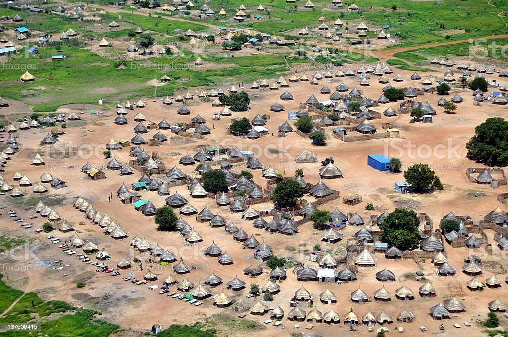 Aerial of African housing stock photo