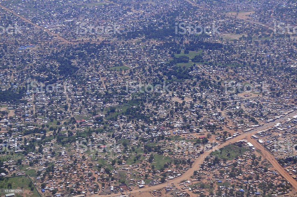 Aerial Of An African Slum In Juba South Sudan Stock Photo