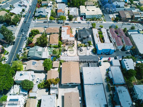 istock Aerial of Apartments and Houses 683451452