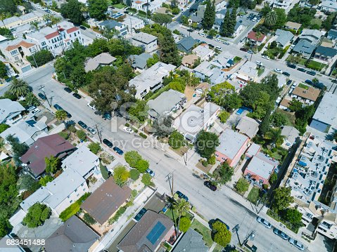 istock Aerial of Apartments and Houses 683451488