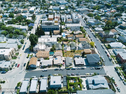 istock Aerial of Apartments and Houses 683451514