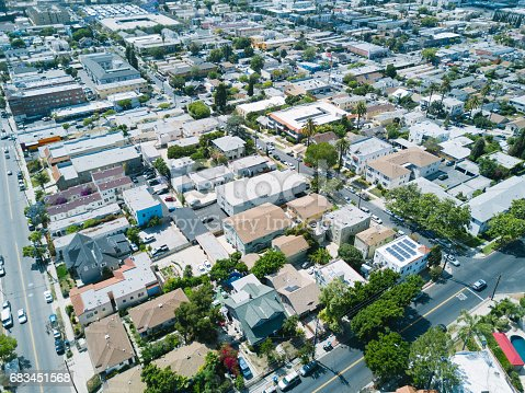 istock Aerial of Apartments and Houses 683451568