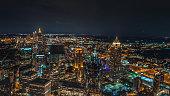 Aerial of Atlanta at Night
