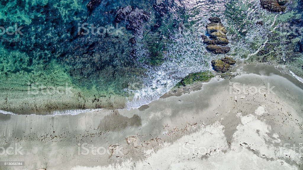 Aerial of beach stock photo