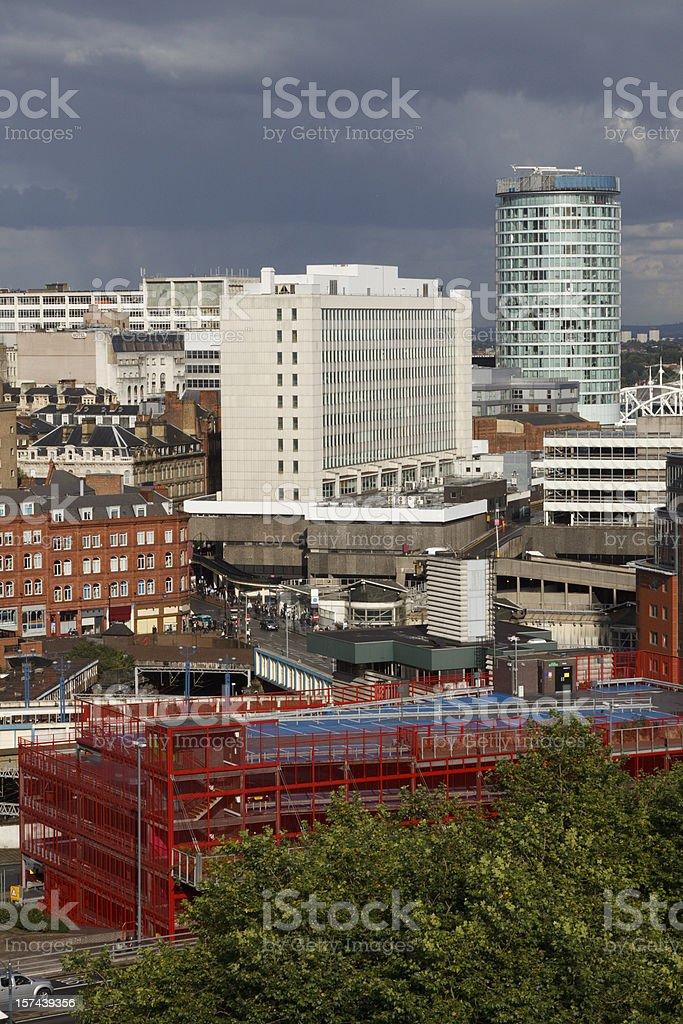 Aerial of Birmingham royalty-free stock photo