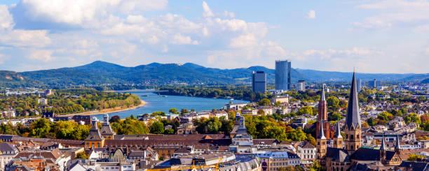 Luftaufnahmen von Bonn, die ehemalige Hauptstadt von Deutschland – Foto
