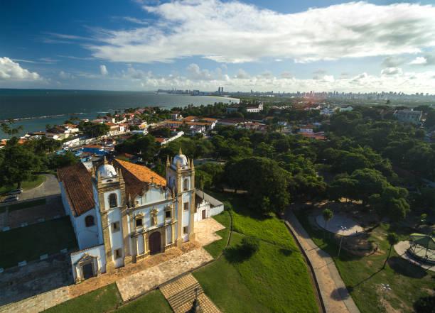 antena da igreja do carmo, em olinda, pernambuco, brasil - recife e olinda - fotografias e filmes do acervo