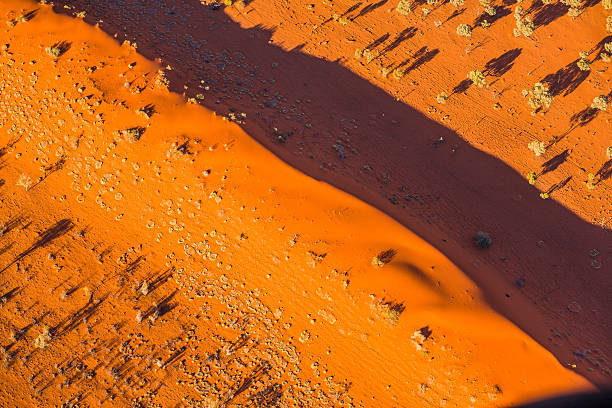 Aerial of desert dunes Queensland, Australia outback stock pictures, royalty-free photos & images