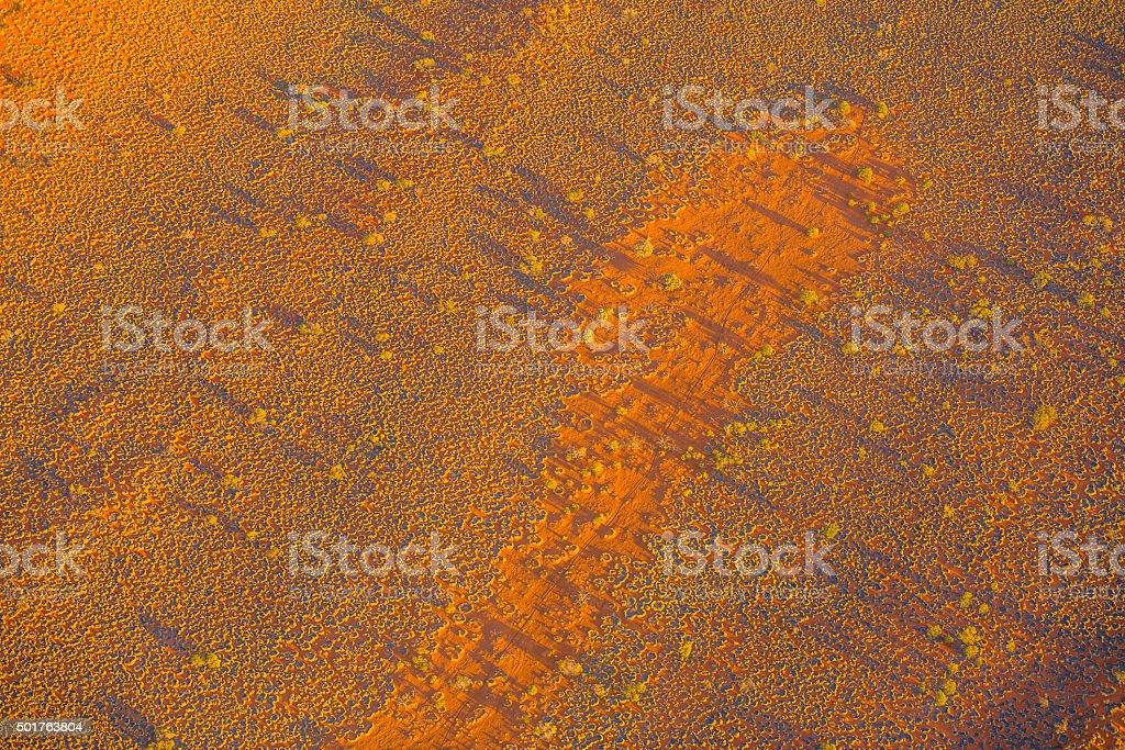 Aerial of desert landscape stock photo