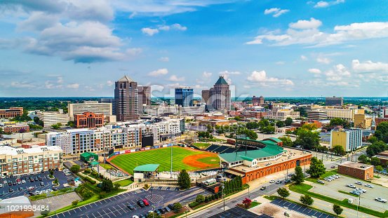 istock Aerial of Downtown Greensboro North Carolina NC Skyline 1021998484