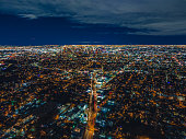 istock Aerial of Downtown Los Angeles at Night 1299655057