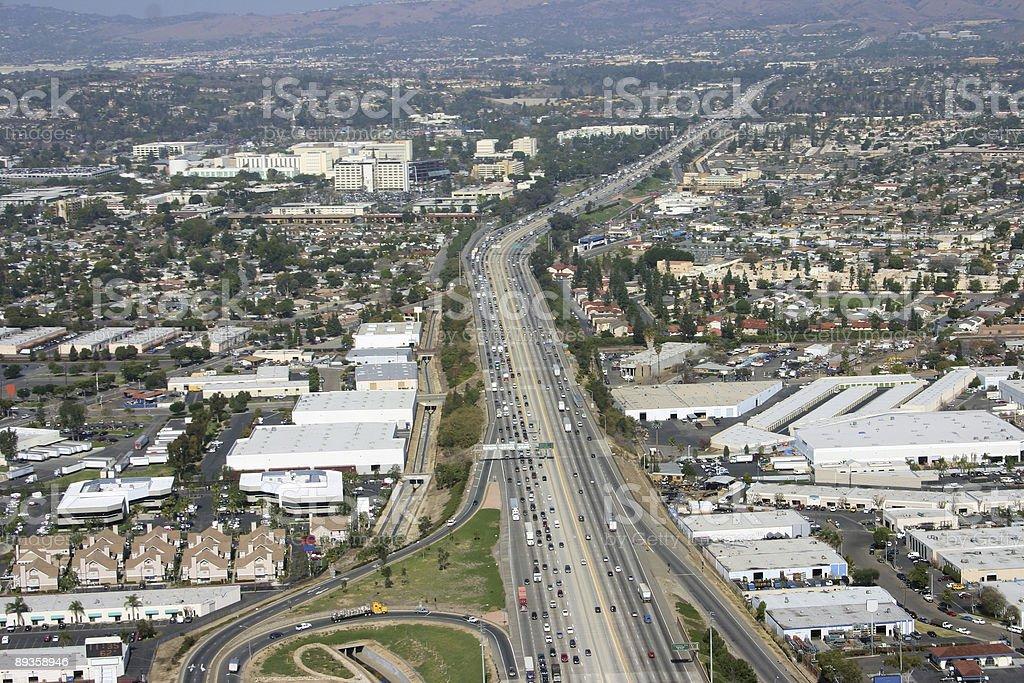 Vue aérienne de l'autoroute photo libre de droits