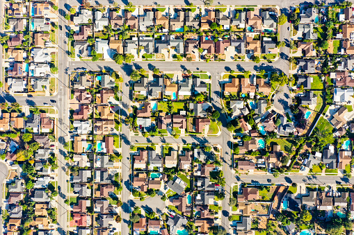 istock Aerial of Houses in California Suburbs 1059784094