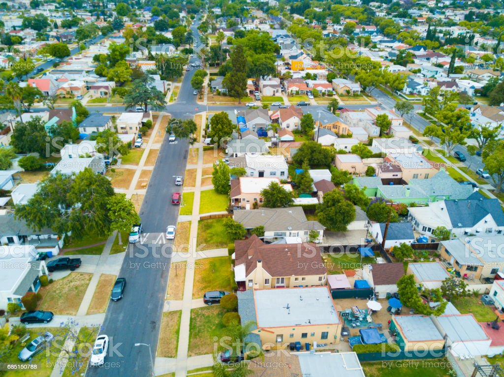 Aerial of Houses royalty-free stock photo