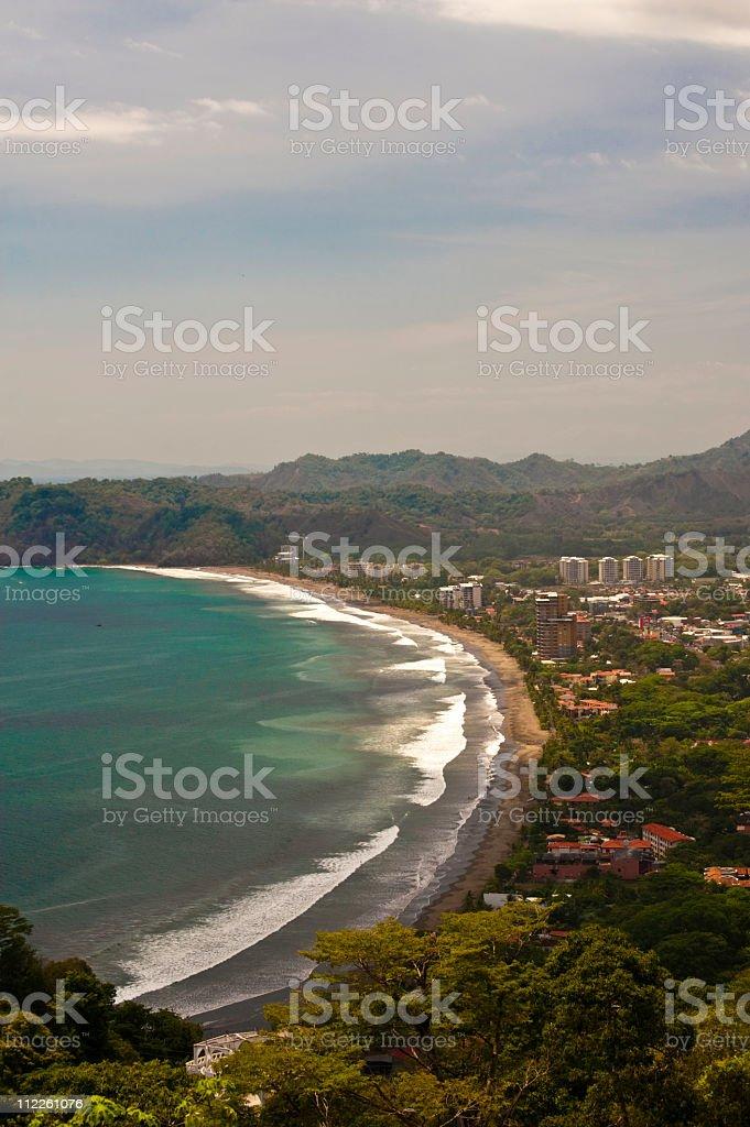 Aerial of Jaco Costa Rica stock photo