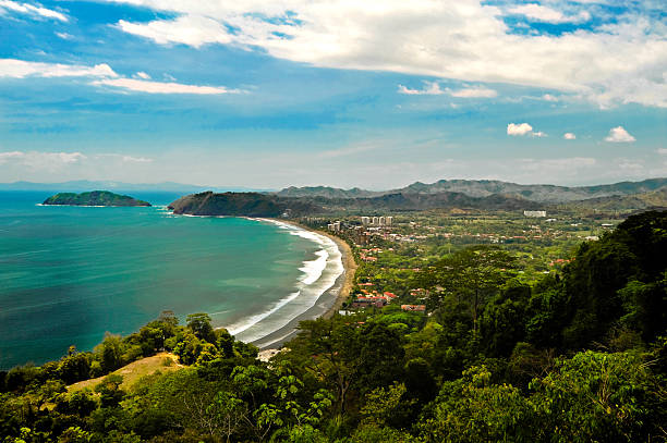 aerial of jaco costa rica - jodijacobson stock pictures, royalty-free photos & images