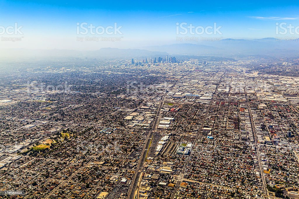 aerial of Los Angeles royalty-free stock photo