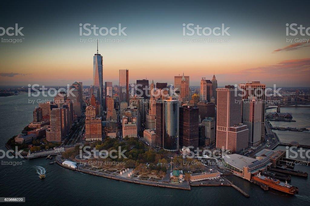 Aerial of Lower Manhattan foto