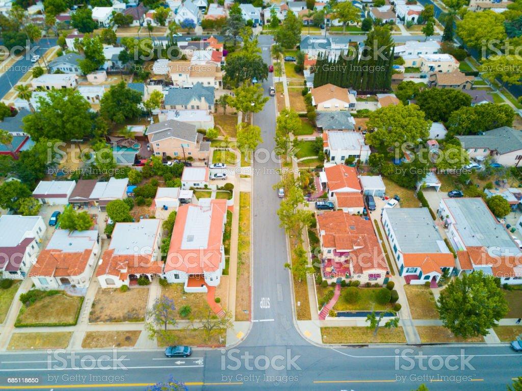 Aerial of Neighborhood royalty-free stock photo