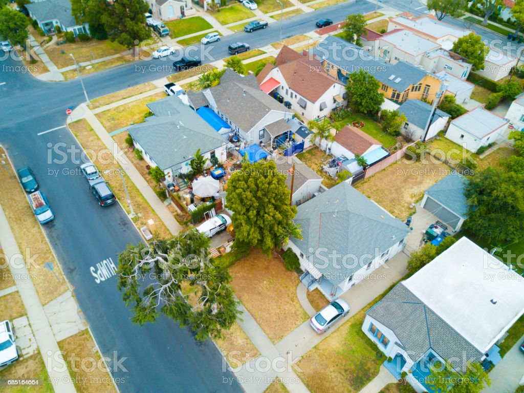 Aerial of Neighborhood royalty-free stock photo
