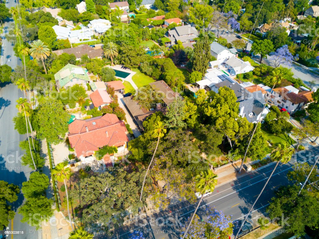 Aerial of Neighborhood foto de stock royalty-free