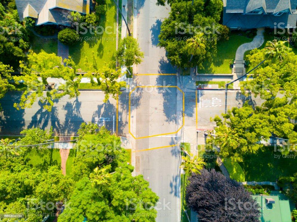 Aerial of Neighborhood stock photo