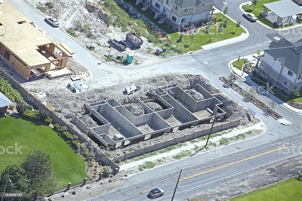 Aerial of New Residential Construction royalty-free stock photo