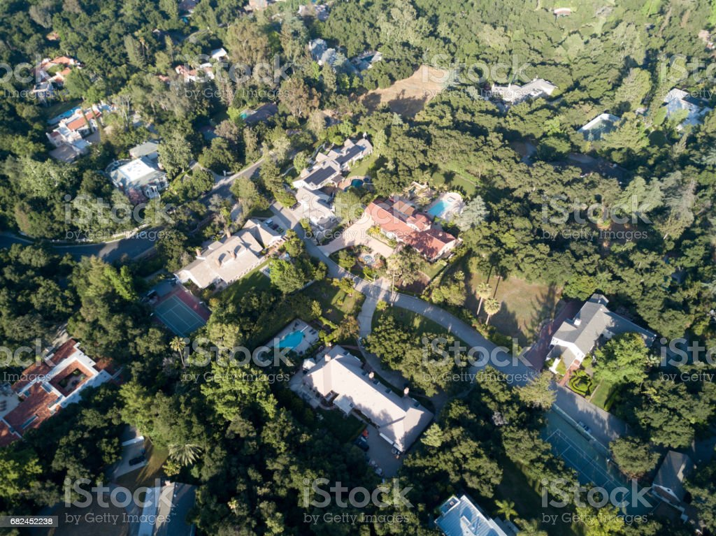 Aerial of Residential Area royalty-free stock photo