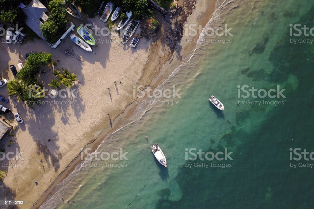 Antena de Salem Beach, Jamaica - foto de stock