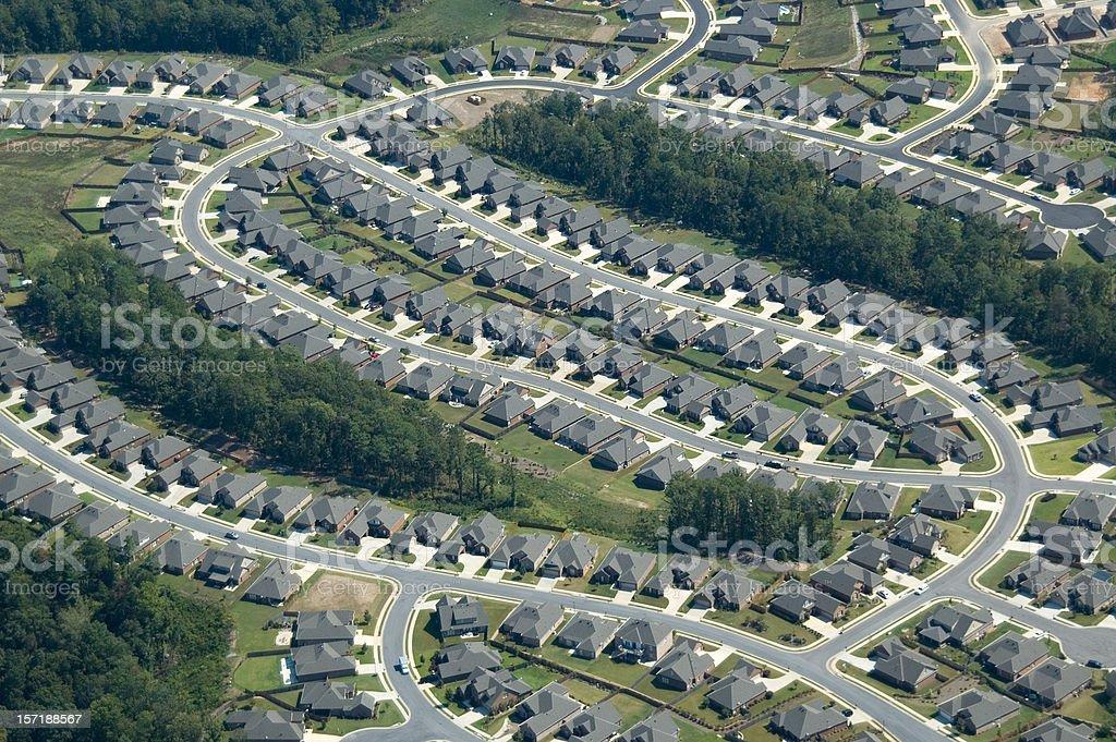 Aerial of Suburb Housing stock photo