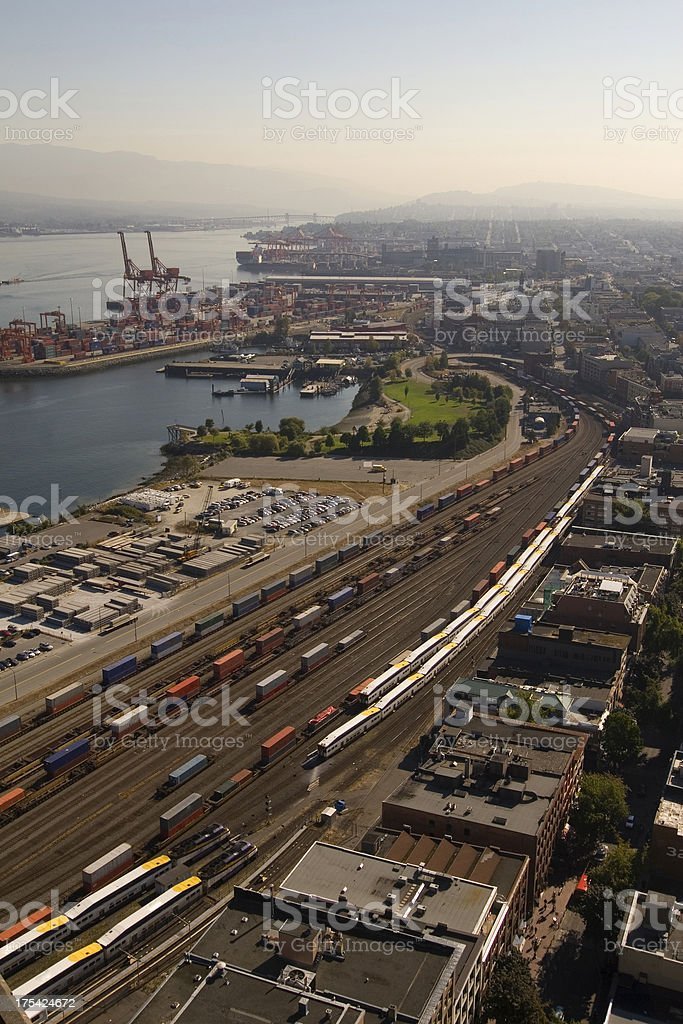 Aerial of Vancouver, Canada royalty-free stock photo