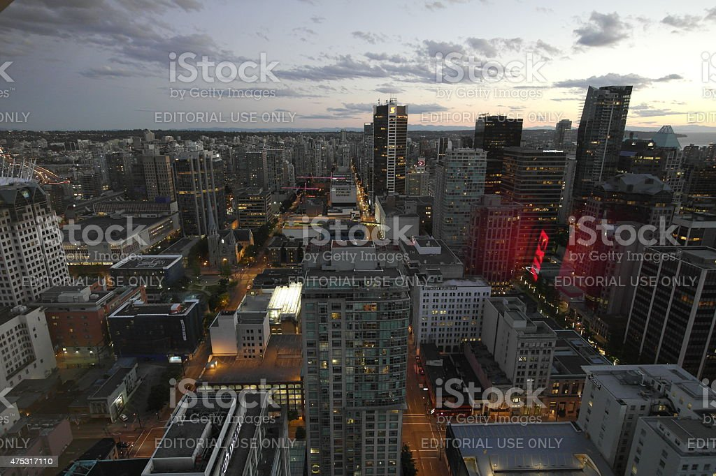 Aerial of Vancouver, Canada stock photo